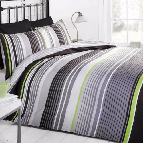 Cambridge Stripe mono King Sized Duvet Signature Home By Rapport